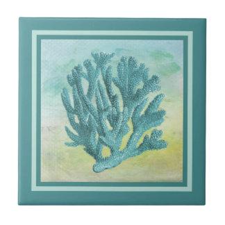 Dunkle Türkis-Korallen-Niederlassung Keramikfliese