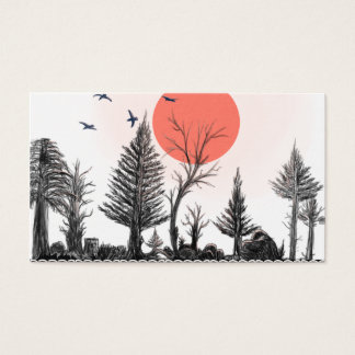 dunkle WaldVisitenkarte Visitenkarte