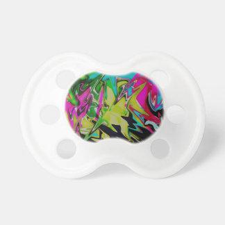 Dunkler abstrakter flüssiger FarbTropfen Schnuller