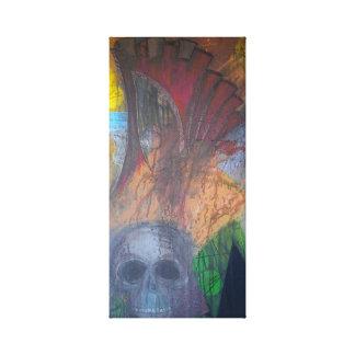 Dunkler abstrakter Schädel eingewickelte Leinwand Galerie Gefaltete Leinwand