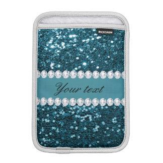 Dunkler aquamariner blauer Imitat-Glitter und iPad Mini Sleeve