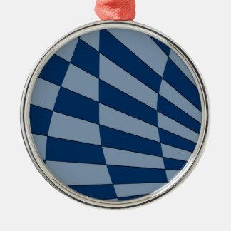 Dunkler Bliue Entwurf Silbernes Ornament