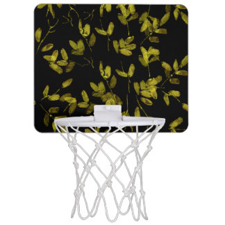 Dunkler Blumendruck Mini Basketball Ring