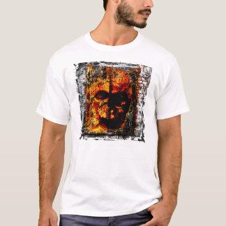 Dunkler brennender Schädel T-Shirt