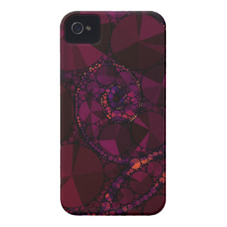 Dunkler Burgunder Bling abstrakt iPhone 4 Case-Mate Hüllen