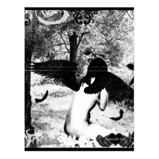 Dunkler Engel Postkarte