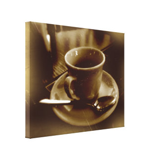 Dunkler Espresso no2 des Sepia Leinwanddrucke