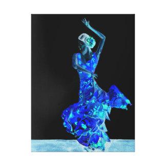 Dunkler Flamenco Leinwanddruck