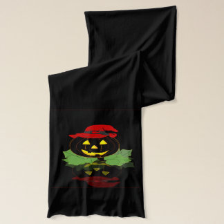 Dunkler Halloween-Kürbis Schal