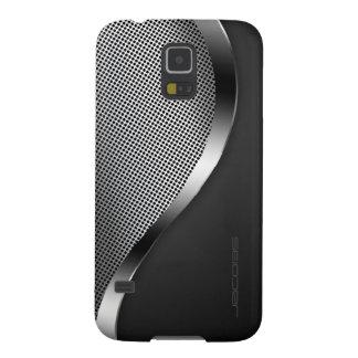 dunkler Kasten mit perforierter Platte und Samsung Galaxy S5 Hüllen