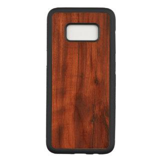 Dunkler Kirschholz-Kasten Carved Samsung Galaxy S8 Hülle