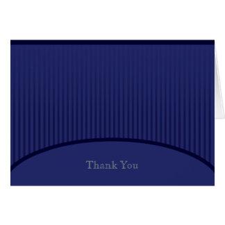 Dunkler Königsblau-Streifen danken Ihnen zu kardie Mitteilungskarte