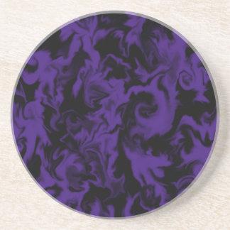 Dunkler lila u. schwarzer MischfarbUntersetzer Untersetzer