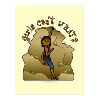 Dunkler Mädchen-Kletterer Postkarte