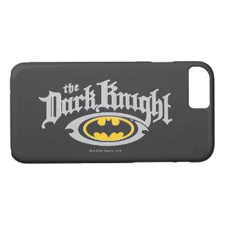 Dunkler Name Batmans Ritter-| und ovales Logo iPhone 8/7 Hülle