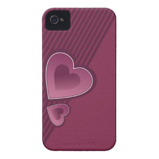 Dunkler rosa Herzen iPhone 4/4s Kasten Case-Mate iPhone 4 Hülle