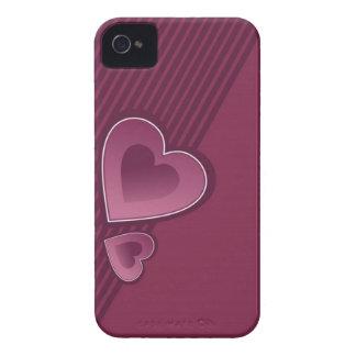 Dunkler rosa Herzen iPhone 4/4s Kasten iPhone 4 Cover