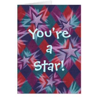 """Dunkler Spaßvogel """"Sie sind ein Stern!"""" danke zu Karte"""