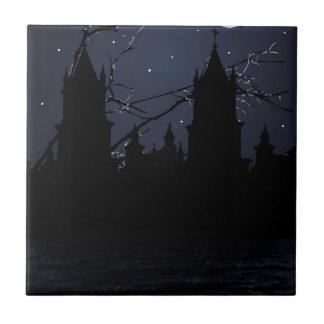 Dunkler Szenen-Illustrations-Druck Keramikfliese