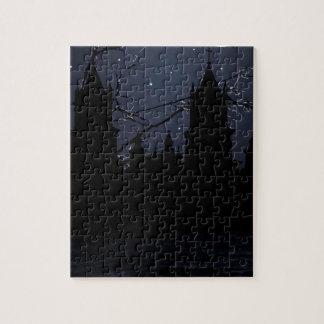 Dunkler Szenen-Illustrations-Druck Puzzle