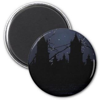 Dunkler Szenen-Illustrations-Druck Runder Magnet 5,1 Cm