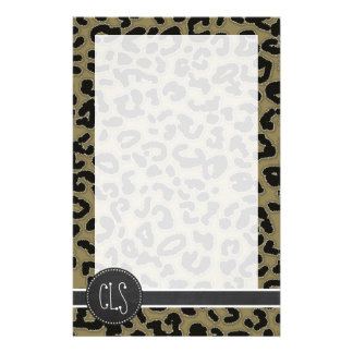 Dunkler TAN-Leopard-Druck; Tafelblick Personalisierte Druckpapiere