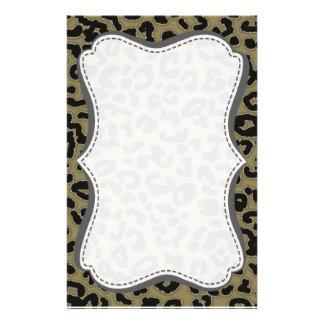 Dunkler TAN-Leopard-Tierdruck Bedrucktes Büropapier