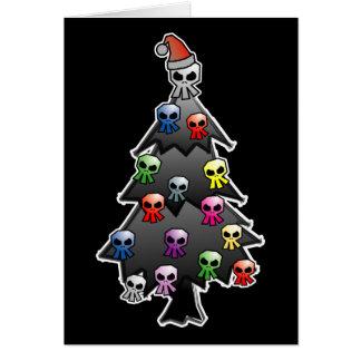 Dunkler und gotischer Feiertags-Gruß Grußkarte