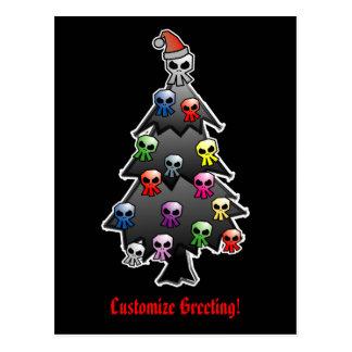 Dunkler und gotischer Feiertags-Gruß Postkarten