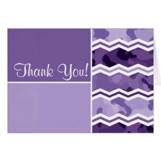 Dunkler und heller Lavendel-lila Camouflage Karte