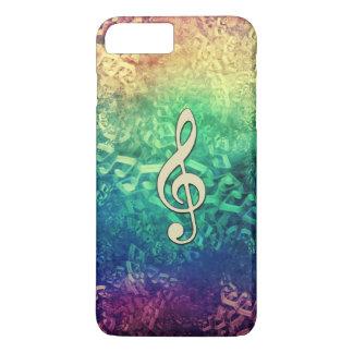 Dunkler und verrückter Regenbogen-Musiknoten iPhone 8 Plus/7 Plus Hülle