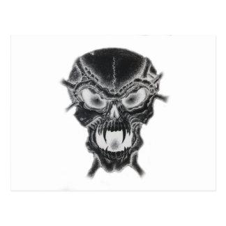 Dunkler Vampirs-Schädel Postkarte