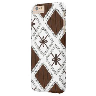 Dunkler weißer Praline-Valentinstag-Kasten Barely There iPhone 6 Plus Hülle
