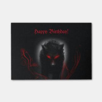 Dunkler Wolf Post-it Klebezettel