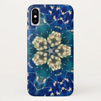 Dunkler Wolken-Stern-Mandala-Kasten iPhone X Hülle