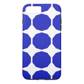Dunkleres Blau des blauen Polygons umrandete iPhone 8 Plus/7 Plus Hülle