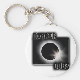 DUNKLERES DUBZ Schwarzes ein weißer Dubstep Standard Runder Schlüsselanhänger
