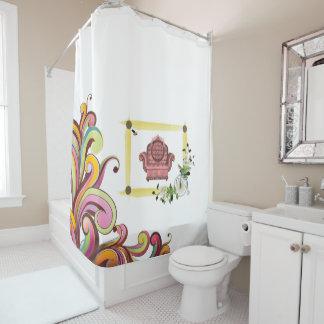 dunkles Blumencouch showercurtain Weiß Duschvorhang