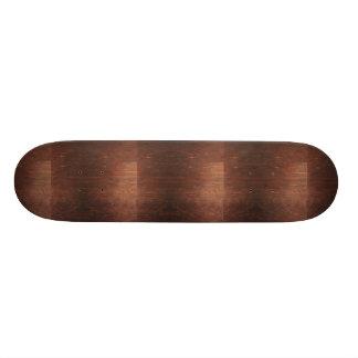 Dunkles Brown-Holz-Beschaffenheit Individuelle Skatedecks