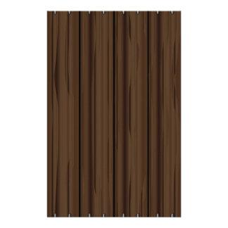 Dunkles Brown-Zaun-Zaun Briefpapier
