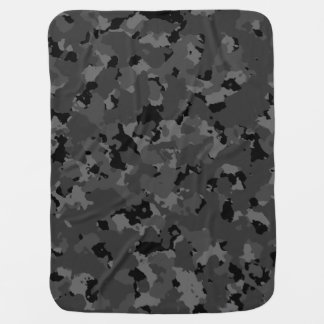 Dunkles Camouflage-Muster Babydecke