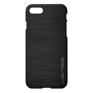 dunkles elegantes perforiertes Metall iPhone 8/7 Hülle