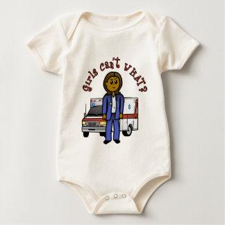 Dunkles EMT Sanitäter-Mädchen Baby Strampler
