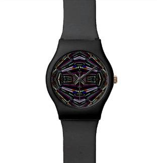 Dunkles ethnisches scharfes mutiges Muster Armbanduhr