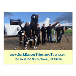 Dunkles Förster-Teleskop bereist Postkarte
