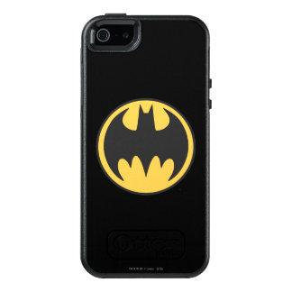Dunkles gelbes Kreis-Logo Batman-Symbol-  OtterBox iPhone 5/5s/SE Hülle
