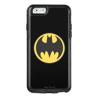 Dunkles gelbes Kreis-Logo Batman-Symbol-| OtterBox iPhone 6/6s Hülle