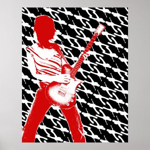 Dunkles Gitarren-Plakat