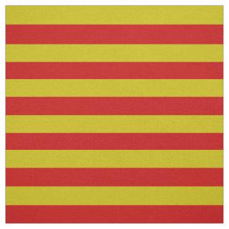 Dunkles Gold, heller roter Stängel, Streifen Stoff