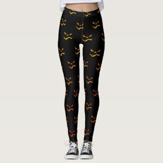 Dunkles Halloween-Grimassen-Muster Leggings